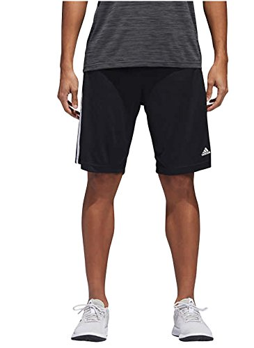 adidas Mens Performance Climalite Triple Stripe Gym Athletic/Training Shorts (Black, Large) ()