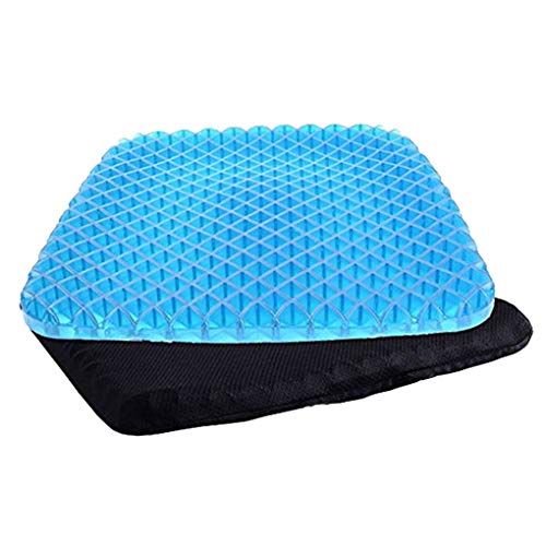 Antcher Gel Seat Cushion, Non Slip Breathable Honeycomb Pain Relief Massage Sitter Cushion Pad for Office Home Car Wheelchair