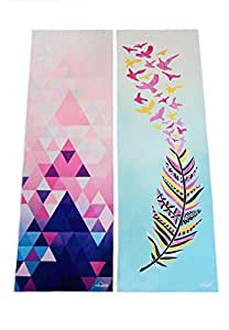 "Hot Yoga Towel by Myogalife. Beautiful Design, Extra Long (24""x72""), Extremely Absorbent, Machine Washable and Non-slip when Dampened. Perfect for Bikram, Ashtanga, Pilates, etc"