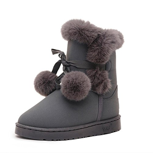 Lady-in-tube in the DermIS high snow boots GRAY-7660CM v5Q9ocsGb