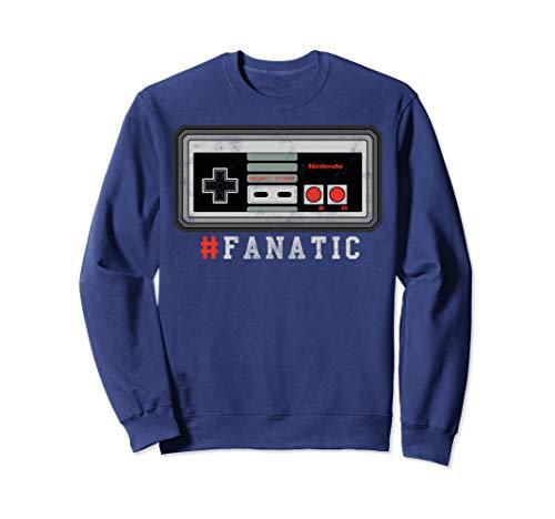 Nintendo NES Controller Fanatic Retro Sweatshirt (Nintendo Wii Limited Edition Blue Console $99-96)