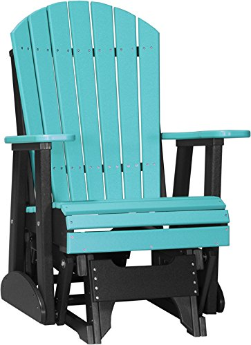 Aruba Recycled Plastic Materials (2' Adirondack Poly Glider Chair Aruba Blue)