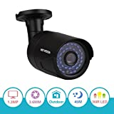 HIS VISION 960P AHD Camera,150ft Night Vision Security Camera,3.6mm Lens 36 Leds CCTV Camera w/ IR CUT,1.3MP AHD Indoor/Outdoor Security Camera PK 720P Only Work w/ AHD Hybrid DVR(Metal Casing)
