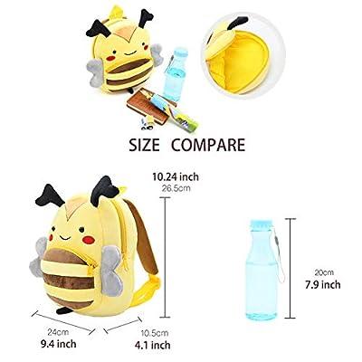 New Toddler's Backpack, Toddler's Mini School Bags Cartoon Cute Animal Plush Backpack for Kids Age 1-4 Years (Pig) | Kids' Backpacks