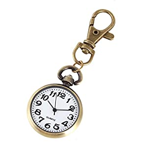 XR Classical Round Key Ring Watch Pocket Watch Pendant Key Chain Watch