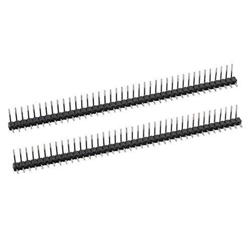 uxcell® 2 Pcs 40 Position 2.54mm Pitch Single Row Right Angle Male Pin Header