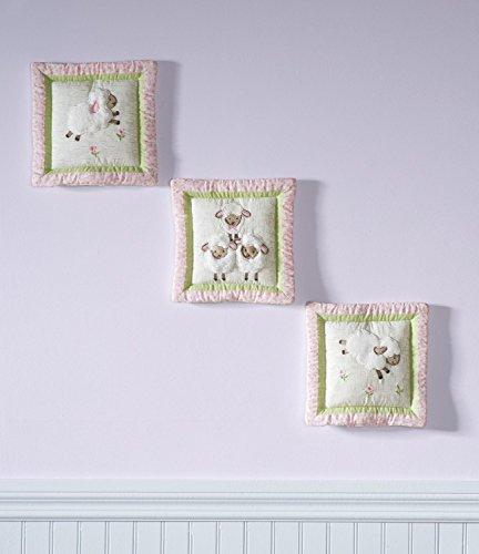 Kidsline Sheep Sweet Dreams 3 Piece Plush Fabric Wall Hanging Decor