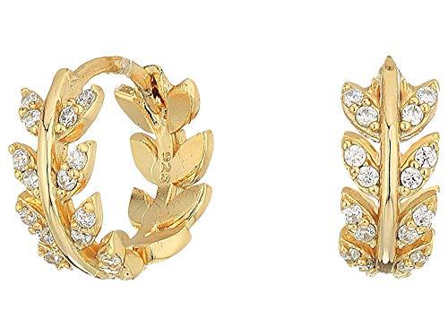 SHASHI Women's Amelia Huggie Earrings Gold/Vermeil One Size (Vermeil Huggie Earrings)