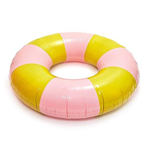Ban.do Float on GIANT Innertube Beverly Stripe Daffodil Cameo