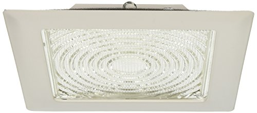 "Elco Lighting EL11W 8"" CFL Square Trim with Fresnel Glass Lens - EL11W (Square Recessed Trim)"