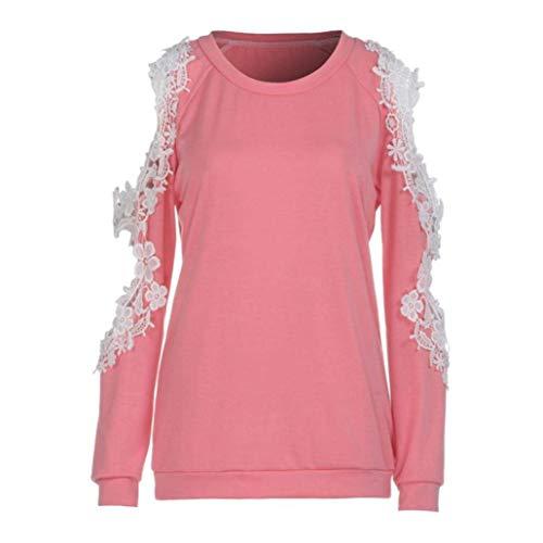 colore 16 Da Donna Zhrui Dimensione Rosa Casual Camicia Rosa 6E0q0xIBn