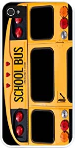 Rikki KnightTM Back Of A Yellow School Bus Design iPhone 5 & 5s Case Cover (White Rubber with bumper protection) for Apple iPhone 5 & 5s