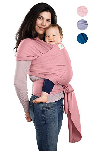 BabyWaybe Wrap Sling Carrier for Infants and Newborn - Perfect Shower Gift - Breathable Soft Stretchy Carrier - Safe and Easy to Use - 4-in-1: Soft Carrier, Baby Sling, Postpartum Belt, Nursing Cover by BabyWaybe