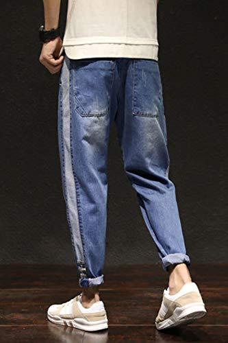 Denim Affusolato Pantaloni Vepodrau Occasionale Jeans Gli Slim Uomini Di Blu Hnwqw1aIT