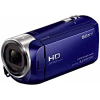Sony HDRCX240/L Full HD (1920x1080) 60p Video Camera with 2.7-Inch LCD, 27x Optical, 54x Clear Image Zoom, 29.8MM Wide Angle Carl Zeiss Lens (Blue) (Certified Refurbished)