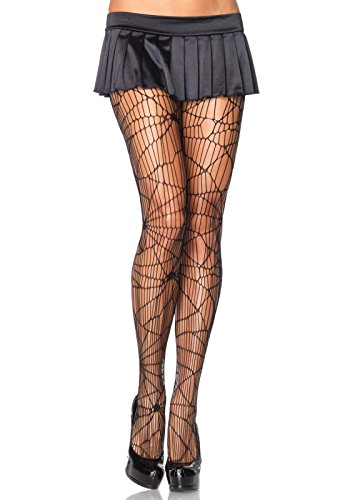 [Leg Avenue Women's Plus-Size Plus Distressed Net Pantyhose, Black, 1X-2X] (Halloween Costumes 2016 Plus Size)