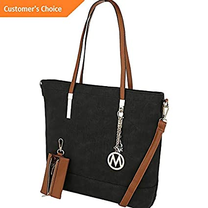 Amazon.com | Sandover MKF Collection by Mia K. Farrow Franny Vintage Wash Tote NEW | Model LGGG - 11166 | | Luggage
