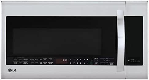 LG LMVM2033ST 30-Feet 2 Cubic Feet Over-The-Range Microwave, Stainless Steel