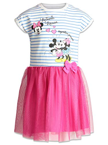 Disney Toddler Girls' Minnie Mouse Tulle Dress, Blue/Pink (2T) -