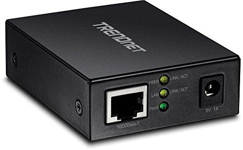 TRENDnet 1000BASE-T to SFP Fiber Media Converter, Gigabit Ethernet to SFP Media Converter, 4Gbps Switching Capactiy, TFC-GSFP