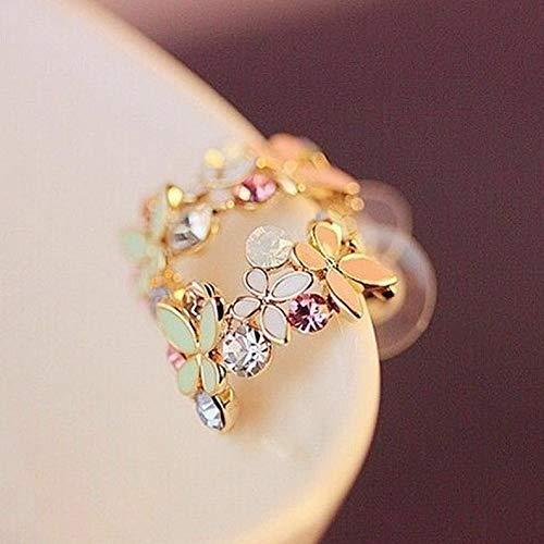 - Monowi 1 Pair Fashion Women Elegant Crystal Rhinestone Pearl Ear Stud Earrings Charms | Model ERRNGS - 5255 |