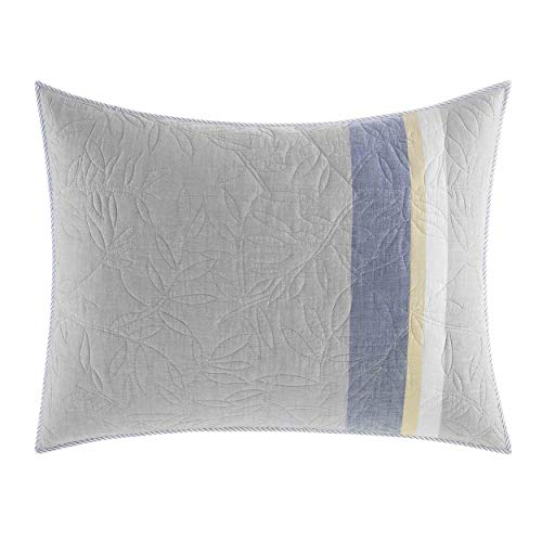 Nautica Sea Palms Standard Sham, Grey