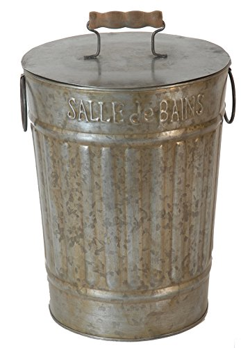 Antic Line 6538 French Vintage Bathroom Bin Diameter 20 cm Height 26 cm
