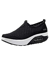 Sneakers Women Outdoor Mesh Casual Sports Shoes Thick-Soled Air Cushion Shoes