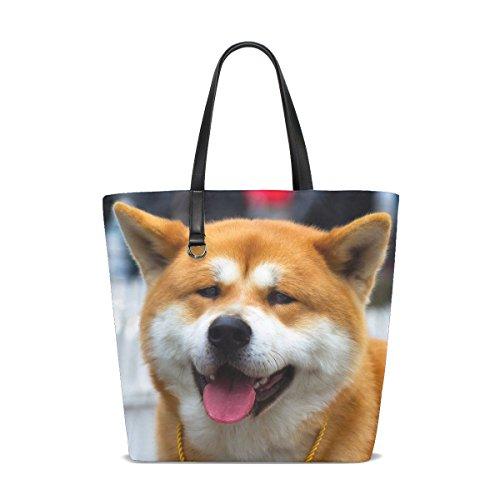te Yellow Pet Cute Fluffy Puppy Tote Bag Purse Handbag For Women Girls ()