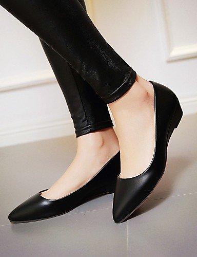 PDX/Damen Schuhe flach Absatz spitz Zehen Wohnungen Schuhe mehr Farben erhältlich, - black-us5 / eu35 / uk3 / cn34 - Größe: One Size