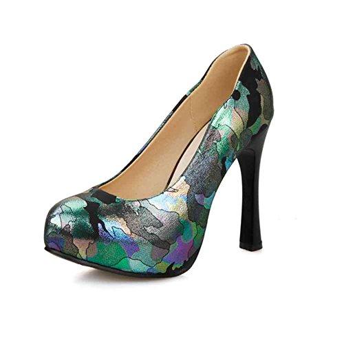 - DecoStain Women's Stiletto High Heel Platform Pumps Party Dress Shoes Black