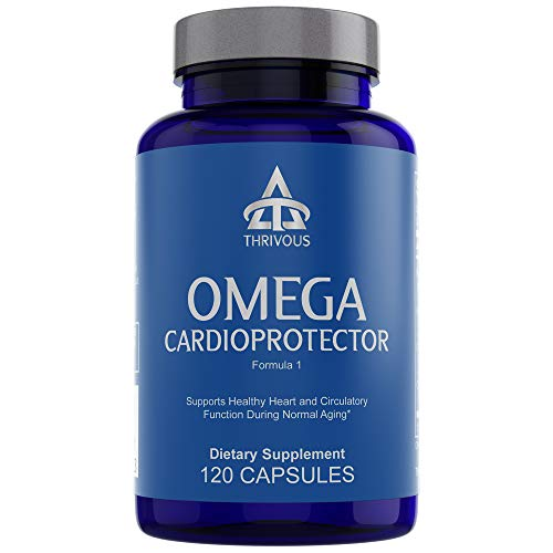 Omega Cardioprotector - Enhance Heart & Circulation Function for Better Aging - Premium Natural Geroprotector Supplement: Pycnogenol French Maritime Pine Bark, Omega 3 EPA & DHA, Garlic (Allicin)