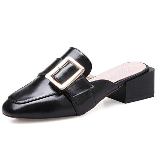 Femmes À Bruts Shoes chaussures En Talons tête Demi A Chaussons Paresseux casual Été Sandales Hauts qXnH44