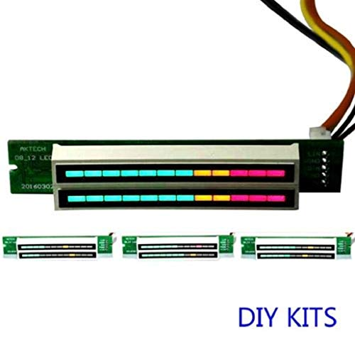 Dual 12 Stereo Level Indicator LED VU Meter Lamps Adjustable Light Speed Board C