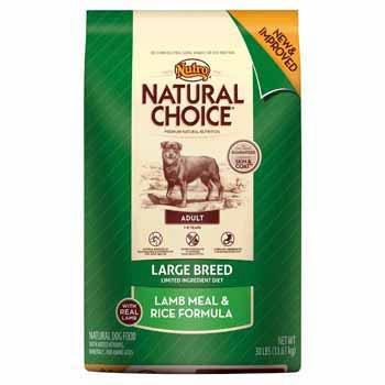 Natural Choice Dog Large Breed Lamb Meal and Rice Formula Adult Dog Food, 30-Pound, My Pet Supplies