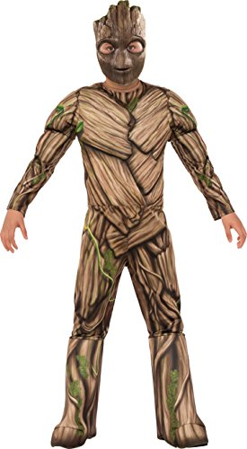 Groot Guardians Of The Galaxy Costume - Rubie's Costume Guardians of The Galaxy Vol. 2 Deluxe Muscle Chest Groot Costume, Multicolor, Large