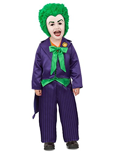 Princess Paradise Boys' Dc Comics Toddler Joker, Purple/Green, XS ()