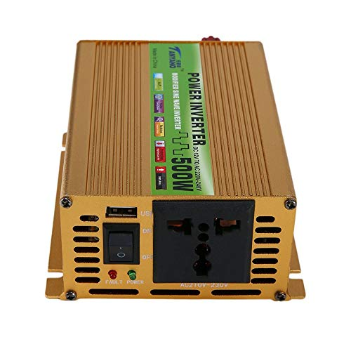 WEIWEITOE-DE Car Power Inverter Sine Wave Power Inverter DC 12V to AC 220V USB Adapter Portable Voltage Transformer Car Charger