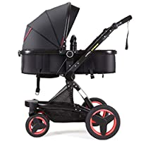 Cynebaby Stroller Bassinet Reversible Pram Strollers Infant All Terrian Baby Carriage City Select Vista Toddler Pushchair for Girl n Boy add Net Cover (Passionate Red)