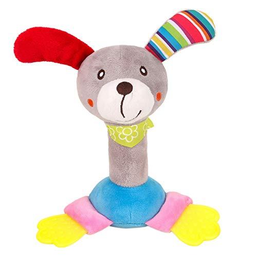 MiyaSudy Baby Rattles Handbells Soft Plush Cartoon Rattles Handbells Bedside Pendant Hanging Hand Jingle Ring Toy