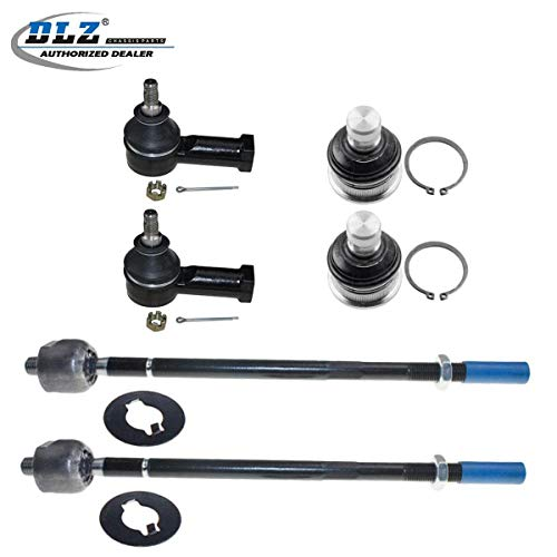 DLZ 6 Pcs Front Suspension Kit-2 Lower Ball Joint 2 Inner 2 Outer Tie Rod End Compatible with 2001-2005 Chrysler Sebring Dodge Stratus 2000-2005 Mitsubishi Eclipse 1999-2003 Mitsubishi Galant EV457