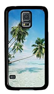 S5 Case,Galaxy S5 Case,Palm Trees-5 Case for Samsung Galaxy S5 PC Material Black