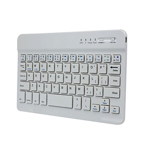 GOTD 7inch Ultra Slim Aluminum Wireless Bluetooth Keyboard For IOS Android Windows, for Notebook, PC, Laptop, Computer, Macbook