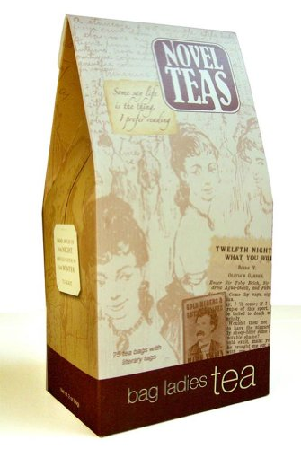 Novel Teas contains 25 teabags individually tagged with literary quotes from the world over, made with the finest English Breakfast tea. by Bag Ladies Tea