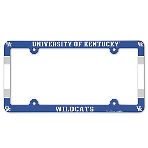 NCAA License Plate with Full Color Frame, University of Kentucky University License Plate Frame