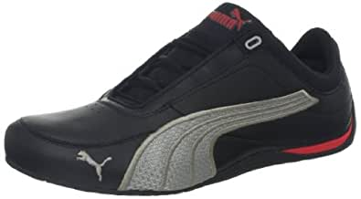 PUMA Men's Drift Cat 4 Material Story Sneaker,Black/Limestone Gray,6 D US