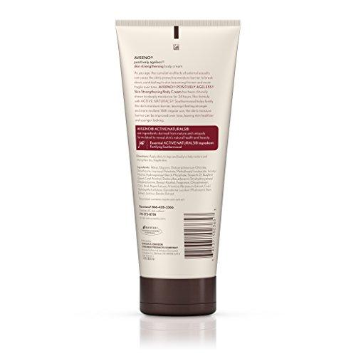 Aveeno Positively Ageless Skin Strengthening Body Cream, Moisturizes For 24 Hours 7.3 Oz by Aveeno (Image #3)
