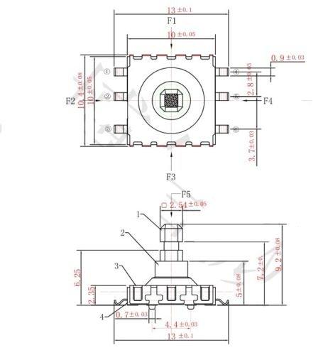 5 Stücke 5 Richtung Takt Schalter Smd 6 Pin 10 9Mm Für Navigationstast oc 10