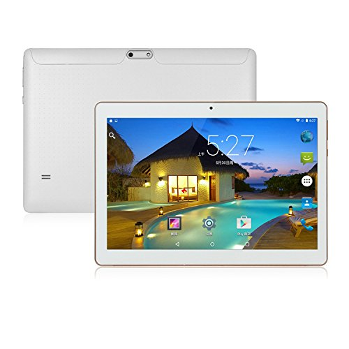 ibowin M130 10.1Inch tablet PC 1G RAM 16G ROM 1280×800 IPS Display MediaTek Quad core CPU Android 6.0 PC WIFi Bluetooth (White)