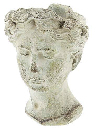 Distinctive Designs Greek/Roman Style Female Statue Head Cement Planter 9